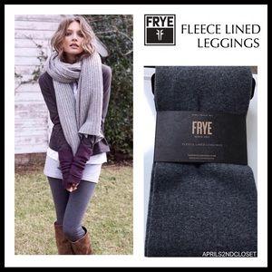 FRYE GREY FLEECE LINED LEGGINGS SIZE L / XL A3C